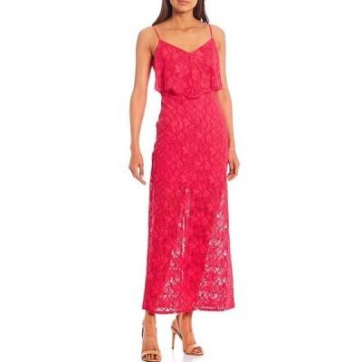 ゲス レディース ワンピース トップス Popover Lace Midi Dress