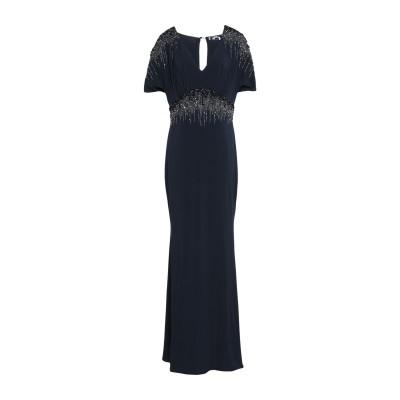 ブルマリン BLUMARINE ロングワンピース&ドレス ダークブルー 46 レーヨン 88% / ポリウレタン 12% ロングワンピース&ドレス