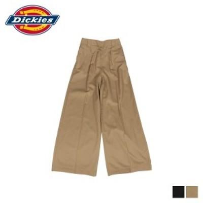 【クリアランス価格】 ディッキーズ Dickies ワークパンツ パンツ ワイドパンツ レディース WIDE PANT ブラック ベージュ 黒 DK006680