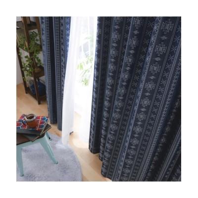 【送料無料!】ネイティブデザイン柄遮熱・1級遮光裏地付きカーテン ドレープカーテン(遮光あり・なし) Curtains, blackout curtains, thermal curtains, Drape(ニッセン、nissen)