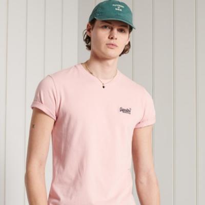SUPERDRY 男裝 短袖T恤 OL VINTAGE EMB 灰粉紅
