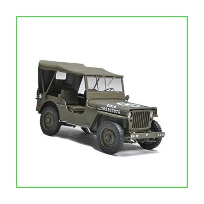 Welly WWII for Jeep Willys Military Green Hardtop 1/18 DIECAST Model Finished CAR【並行輸入品】