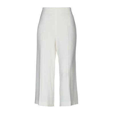 CLIPS パンツ ホワイト 42 レーヨン 70% / アセテート 26% / ポリウレタン 4% パンツ
