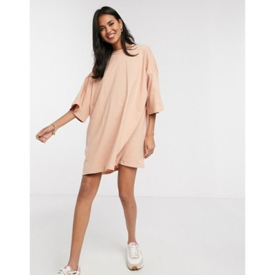 エイソス レディース ワンピース トップス ASOS DESIGN oversized t-shirt dress in beige