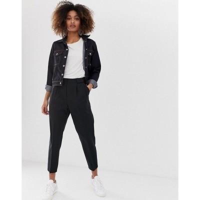 エイソス レディース カジュアルパンツ ボトムス ASOS DESIGN tailored smart tapered pants Black
