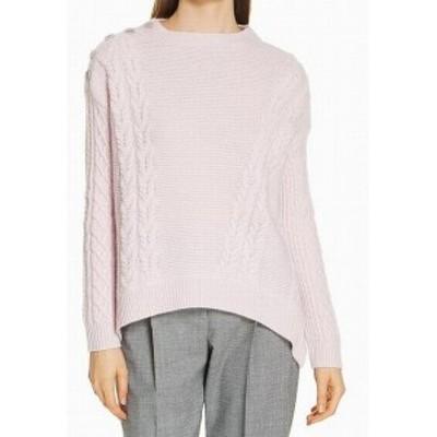 ファッション トップス Lewit Womens Sweater Purple Size Large L Cable Knit Pullover Cashmere