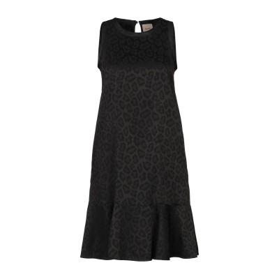 ヌード NUDE ミニワンピース&ドレス ブラック 40 アセテート 79% / レーヨン 18% / ポリウレタン 3% ミニワンピース&ドレス