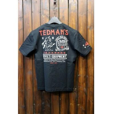 エフ商会 TEDCOMPANY TEDMAN(テッドマン) TDSS-456 コットンTシャツ ブラック
