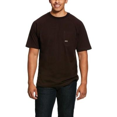 アリアト Tシャツ トップス メンズ Ariat Men's Rebar CottonStrong Short Sleeve T-shirt Brown