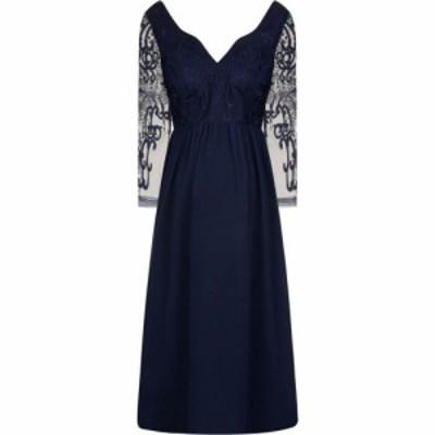 チチ Chi Chi レディース ワンピース マキシ丈 ワンピース・ドレス Embroidered Maxi Dress Navy