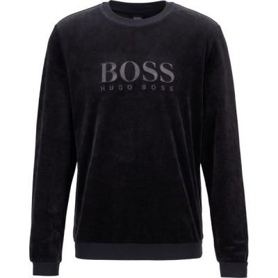 ヒューゴ ボス Boss メンズ スウェット・トレーナー トップス Velour Sweatshirt Black