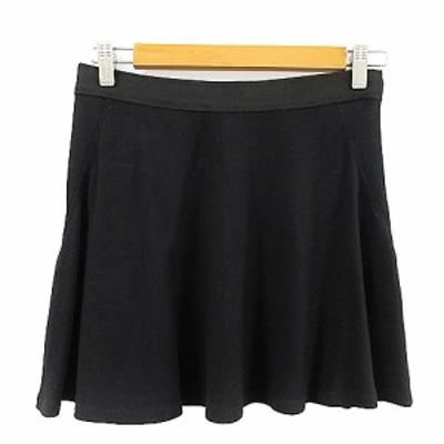 【中古】セオリー theory スカート フレア ミニ S 黒 ブラック /AAM33 レディース