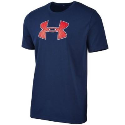アンダーアーマー メンズ Tシャツ トップス Men's Big-Logo T-Shirt Navy Blue