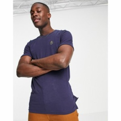 ルーク Luke メンズ Tシャツ ポケット トップス logo pocket crew neck t-shirt ネイビー