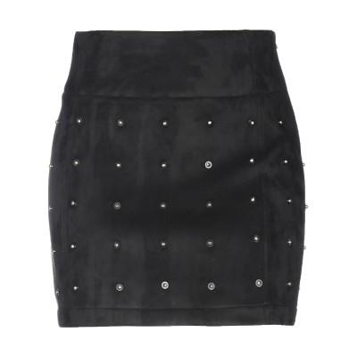 パトリツィア ペペ PATRIZIA PEPE ミニスカート ブラック 40 ポリエステル 100% / ザマック合金 / プラスティック ミニスカ