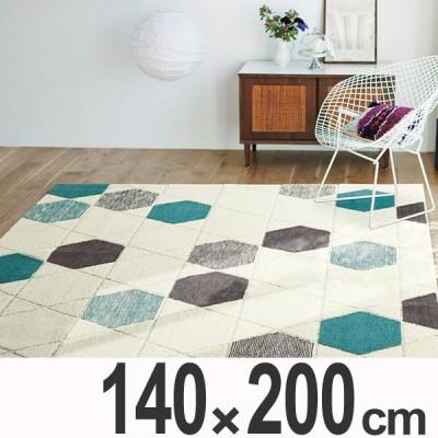ラグ カーペット 2畳 スミノエ ハニカムドロップ 140×200cm ( ラグマット 絨毯 じゅうたん )