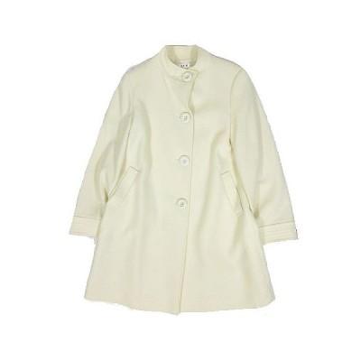 【中古】エスピービー SPB スタンドカラー コート ジャケット ウール アウター サイズL 白 ホワイト  レディース 【ベクトル 古着】