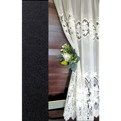 【基本縦110cm】細窓用 アイボリー トルコ製 送料無料『カフェカーテン』窓に合わせて セレクト出来ます 縫製日本小窓用
