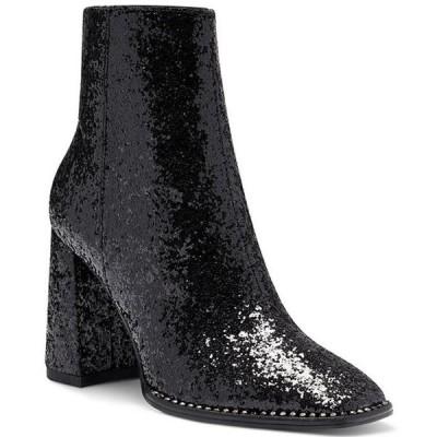 ジェシカシンプソン レディース ブーツ・レインブーツ シューズ Silvya Glitter Stud Detail Square Toe Block Heel Booties