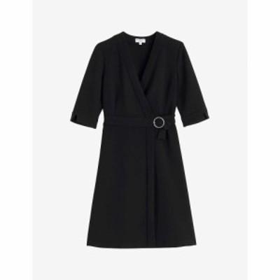 クローディ ピエルロ CLAUDIE PIERLOT レディース ワンピース ミニ丈 ワンピース・ドレス Rasima woven mini dress BLACK