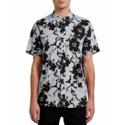 ボルコム メンズ シャツ トップス Men's Hallock Short Sleeve Shirt Cool Blue