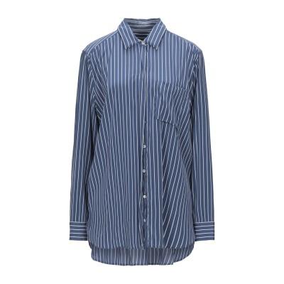 VAN LAACK シャツ ブルー 46 シルク 92% / ポリウレタン 8% シャツ