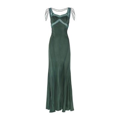 エリクソンビーモン ERICKSON BEAMON ロングワンピース&ドレス ディープジェード 8 シルク 100% ロングワンピース&ドレス