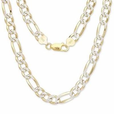 特別価格送料無料4mm Figaro Chain Two-Toned 14K Gold Plated 925 Sterling Silver 18好評販売中