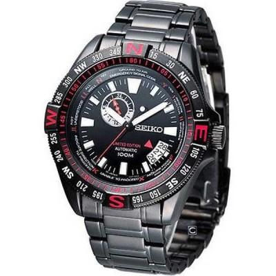 腕時計 セイコー Seiko スーパーior SSA113 メンズ ブラック リミテッド エディション Compass ベゼル オートマチック 腕時計