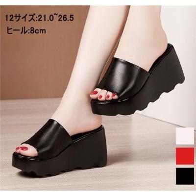 12サイズ サンダル 厚底 ウェッジソール 大きいサイズ ハイヒール 厚底サンダル ストーム ヒールサンダル 小さいサイズ 靴 女性