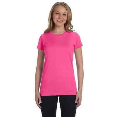 Tシャツ アンブランデッド Juniors' Hot Pink Cotton Jersey T-shirt Pink