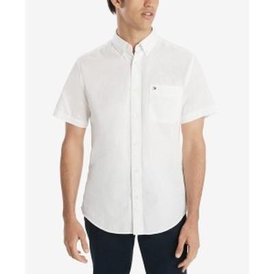 トミー ヒルフィガー メンズ シャツ トップス Men's Wainwright Custom-Fit Shirt Bright White
