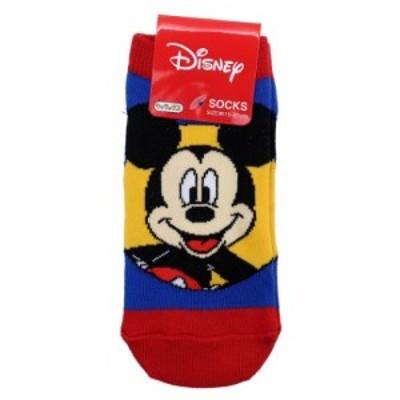 ミッキーマウス 小学生用 靴下 ジュニア ソックス サークル ディズニー 15~21cm キャラクター グッズ メール便可