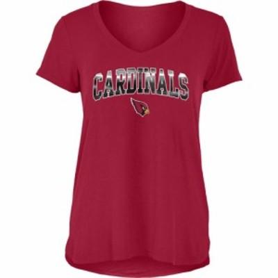 ニューエラ New Era レディース Tシャツ Vネック トップス Arizona Cardinals Red Foil V-Neck T-Shirt