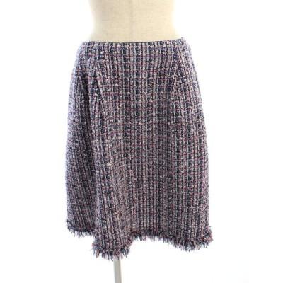 トッカ スカート ツイード フレア 総柄 4