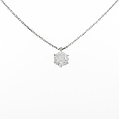 【新品】プラチナダイヤモンドネックレス 1.07ct・D・SI2・3EXT