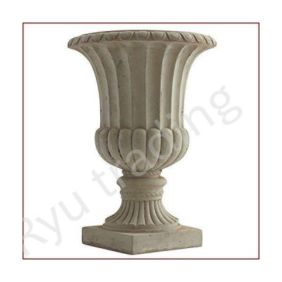 "新品Nearly Natural 20.25"" Large Sand Colored Urn Indoor/Outdoor) Planter"