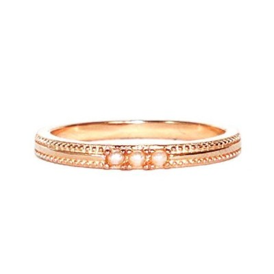 Gieschen Jewelers DANIELA Rose Gold-Plated .925 Sterling Silver CZ and Simu