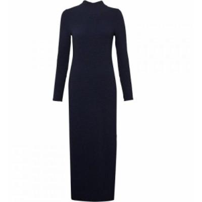 フレンチコネクション French Connection レディース ワンピース ミドル丈 ワンピース・ドレス Petra Texture Jersey Midi Dress Blue