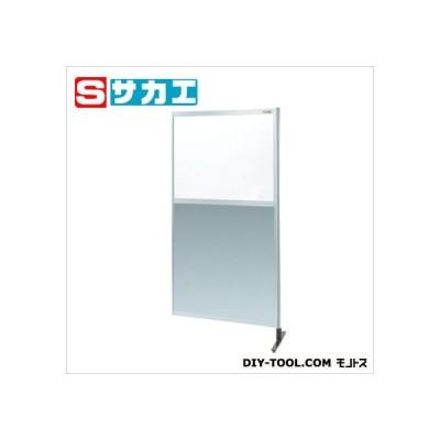 サカエ パーティション(固定式・上透明塩ビ・下アルミ・連結) NAE36NR