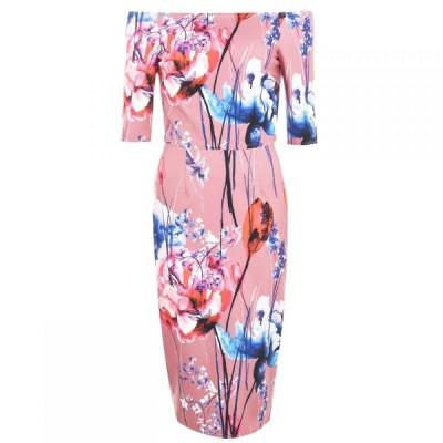 リトル ミストレス Little Mistress レディース ワンピース ミドル丈 ワンピース・ドレス Elva Floral Bardot Midi Dress MULTI