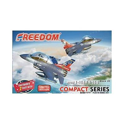 フリーダムモデルキット コンパクトシリーズ ROCAF F-16Aルーク空軍基地第21飛行隊 「ギャンブラーズ」 20周年 & F-16B 814戦闘