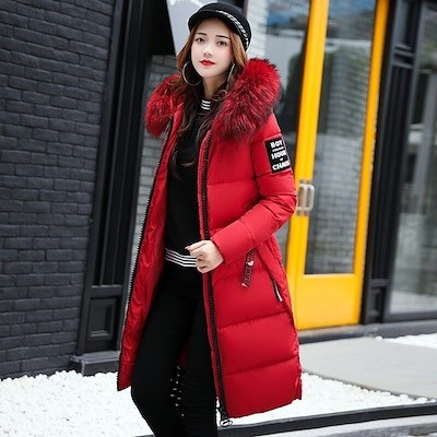 恷仟恬源な Padded Jacket Winter Coat Warm Padded Jacket Winter Parkas for Women Thick Coat Women Cotto
