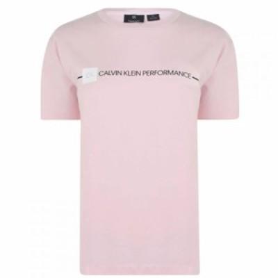 カルバンクライン Calvin Klein Performance レディース Tシャツ ロゴTシャツ トップス logo short sleeve t shirt BalletSlipper