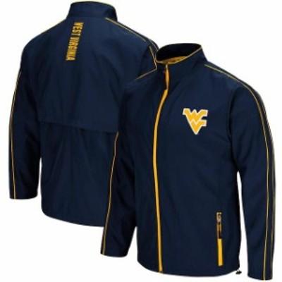 Colosseum コロセウム スポーツ用品  Colosseum West Virginia Mountaineers Navy Big & Tall Barrier Full-Zip Wind Jacket