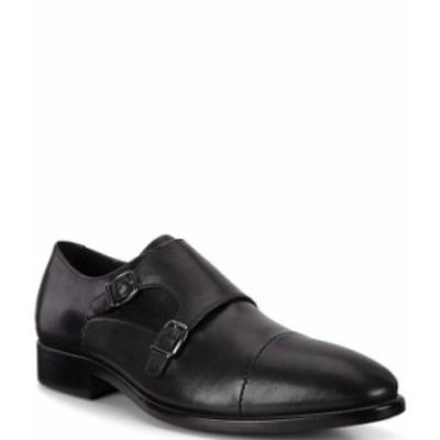 エコー メンズ スリッポン・ローファー シューズ Men's Vitrus Mondial Monk Strap Shoes Black