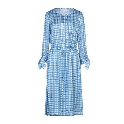 CLAUDIE PIERLOT 7分丈ワンピース・ドレス アジュールブルー 38 ポリエステル 100% 7分丈ワンピース・ドレス