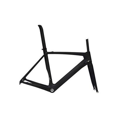 Flyxii Full Carbon UD Matt Road Bike 700C Frameset : Bicycle Frame 58cm Fork Seatpost Clamp