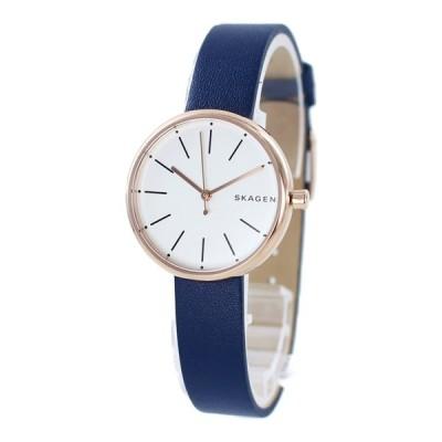 シンプル 北欧 ブランド 10代 20代 ギフト 腕時計 スカーゲン レディース ネイビー