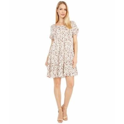 アメリカンローズ ワンピース トップス レディース Marlowe Short Sleeve Floral Dress Ivory/Mauve
